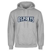 Grey Fleece Hoodie-Ospreys Word Mark