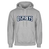 Grey Fleece Hoodie-Ospreys Word Mark