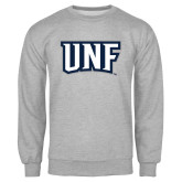 Grey Fleece Crew-UNF Monogram