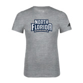 Adidas Sport Grey Logo T Shirt-North Florida Ospreys