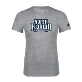 Adidas Sport Grey Logo T Shirt-North Florida Ospreys