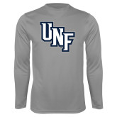 Performance Steel Longsleeve Shirt-Diagonal UNF Monogram