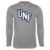 Syntrel Performance Steel Longsleeve Shirt-Diagonal UNF Monogram