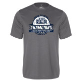 Performance Grey Concrete Tee-2017 ASUN Conference Womens Golf Champions Back To Back