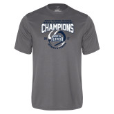 Performance Grey Concrete Tee-2017 ASUN Conference Womens Tennis Champions Back To Back