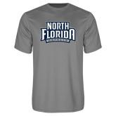 Performance Grey Concrete Tee-North Florida Ospreys