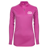 Ladies Syntrel Interlock Raspberry 1/4 Zip-North Florida Ospreys