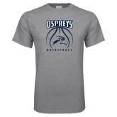 Grey T Shirt-Basketball Stacked