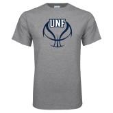 Grey T Shirt-UNF Basketball