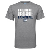 Grey T Shirt-Basketball Stacked & Repeated