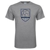 Grey T Shirt-Soccer Shield