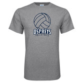 Grey T Shirt-Volleyball Stacked