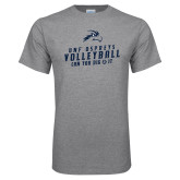 Grey T Shirt-Volleyball Can You Dig It