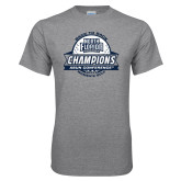 Grey T Shirt-2017 ASUN Conference Womens Golf Champions Back To Back