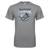 Grey T Shirt-2017 ASUN Conference Womens Tennis Champions Back To Back