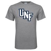 Grey T Shirt-Diagonal UNF Monogram