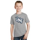 Youth Grey T-Shirt-Diagonal UNF Monogram