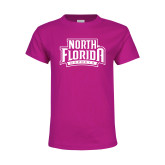 Youth Cyber Pink T Shirt-North Florida Ospreys