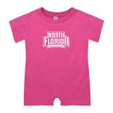 Bubble Gum Pink Infant Romper-North Florida Ospreys
