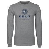 Grey Long Sleeve T Shirt-Golf Stacked