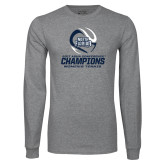 Grey Long Sleeve T Shirt-2017 ASUN Conference Womens Tennis Champions