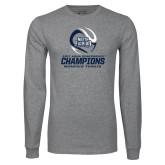 Grey Long Sleeve T Shirt-2017 ASUN Conference Womens Tennis Champions