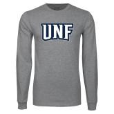 Grey Long Sleeve T Shirt-UNF Monogram