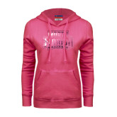 Fuchsia Fleece Hoodie-North Florida Ospreys Foil