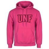 Fuchsia Fleece Hoodie-UNF Monogram Hot Pink Glitter