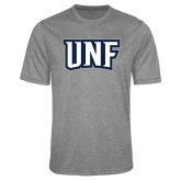 Performance Grey Heather Contender Tee-UNF Monogram