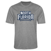 Performance Grey Heather Contender Tee-North Florida Ospreys