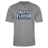 Performance Grey Heather Contender Tee-North Florida Ospreys