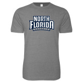 Next Level SoftStyle Heather Grey T Shirt-North Florida Ospreys