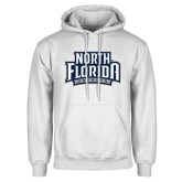 White Fleece Hoodie-North Florida Ospreys