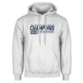 White Fleece Hoodie-2017 ASUN Conference Womens Cross Country Champions