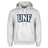 White Fleece Hoodie-UNF Monogram