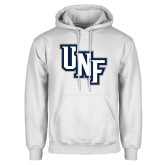 White Fleece Hoodie-Diagonal UNF Monogram