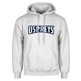 White Fleece Hoodie-Ospreys Word Mark
