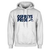 White Fleece Hoodie-Ospreys Pride
