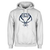 White Fleece Hoodie-UNF Basketball