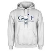 White Fleece Hoodie-Golf Type