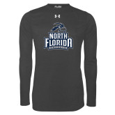 Under Armour Carbon Heather Long Sleeve Tech Tee-Official Logo