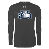 Under Armour Carbon Heather Long Sleeve Tech Tee-North Florida Ospreys