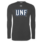 Under Armour Carbon Heather Long Sleeve Tech Tee-UNF Monogram