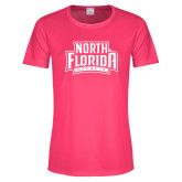 Ladies Performance Hot Pink Tee-North Florida Ospreys