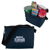 Koozie Six Pack Navy Cooler-North Florida Ospreys
