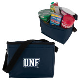 Koozie Six Pack Navy Cooler-UNF Monogram