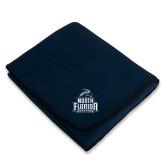 Navy Arctic Fleece Blanket-Official Logo