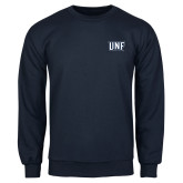 Navy Fleece Crew-UNF Monogram