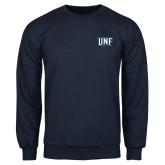 Navy Fleece Crew-UNF Monogram